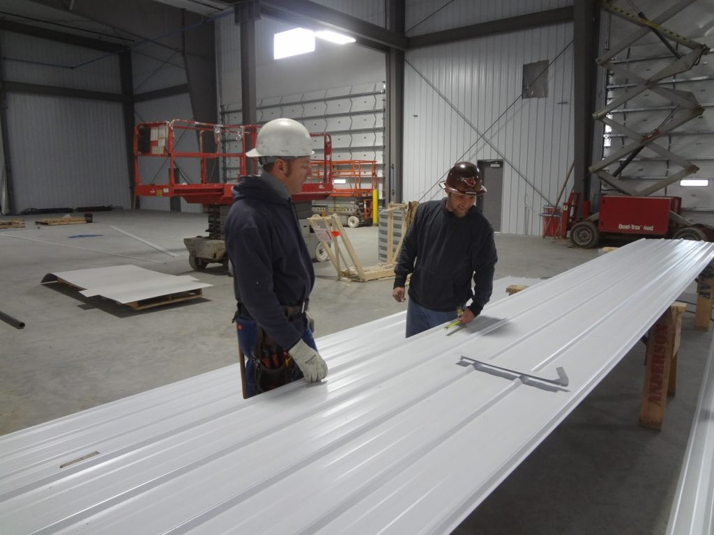 Prepping for metal liner panel installation